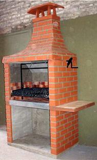 Parrillasimil piedra con fogonera 1,40m